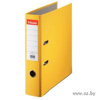 Папка-регистратор А4 с арочным механизмом 75 (ПВХ ЭКО, желтая)