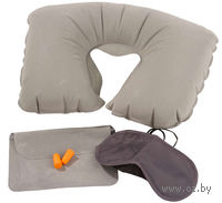 Дорожный набор для сна (3 предмета; серый)
