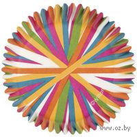 """Набор форм бумажных для выпекания кексов """"Цветное колесо"""" (75 шт; арт. WLT-415-1868)"""