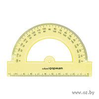 Транспортир пластмассовый (180 градусов; 12 см)