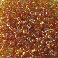 Бисер прозрачный №11050 (золотой, радужный)