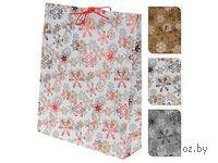 """Пакет бумажный подарочный """"Снежинки"""" (33*9,6*41 см, арт. ABD001430)"""