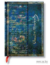 """Записная книжка Paperblanks """"Клод Моне. Водяные лилии, письмо к Моризо"""" в линейку (формат: 130*180 мм, средний)"""