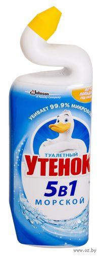 """Средство чистящее для туалета """"Туалетный Утенок. 5 в 1. Морской"""" (750 мл)"""