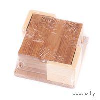 Набор бамбуковых подставок для стаканов (4 шт, 8,5*8,5*1 см)