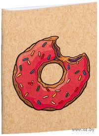 """Блокнот крафт """"Пончик. Симпсоны"""" А7 (001)"""