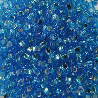 Бисер прозрачный с серебристым центром №67150 (светло-синий)