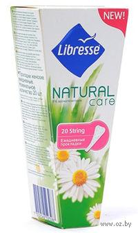 """Женские ежедневные прокладки Libresse Natural Care """"String"""" (20 шт)"""