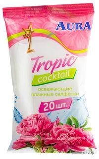 """Салфетки влажные освежающие """"Tropic Cocktail"""" (20 шт)"""