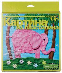 """Картина из пластилина """"Слон"""""""