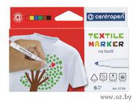 """Фломастеры """"Ergo textil"""" (6 цветов)"""