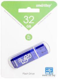 USB Flash Drive 32Gb SmartBuy Glossy series (Dark Blue)