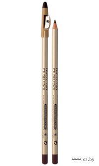 """Контурный карандаш с точилкой для макияжа глаз """"EYELINER PENCIL"""" тон коричневый"""