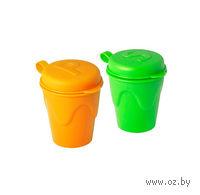 Набор для специй пластмассовый (2 предмета: солонка, перечница, 5*6 см)