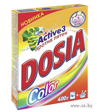 Стиральный порошок для автоматической и ручной стирки DOSIA Active 3 Color (400 г)