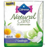 """Женские гигиенические прокладки Libresse Natural Care """"Maxi night"""" (7 шт)"""
