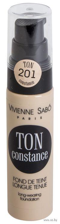"""Тональный крем для лица """"Ton Constance"""" (тон: 201, розово-бежевый)"""
