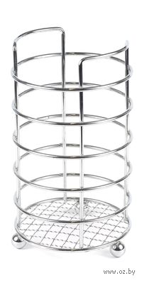 Подставка для столовых приборов металлическая (12х17,5 см)