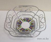 Подставка для фруктов металлическая (24*24*8 см, арт. XX1060)