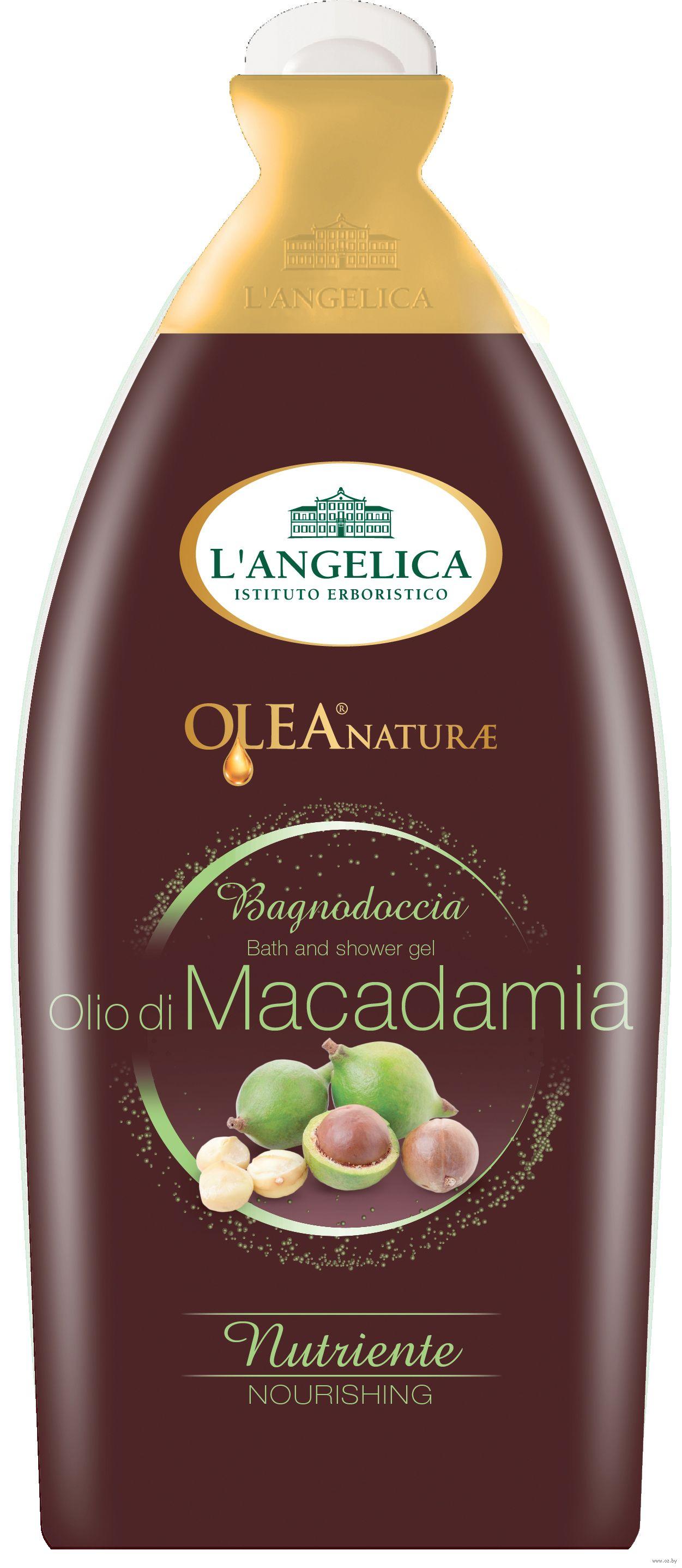 L' Angelica Natura Olea Гель для ванны и душа с маслом макадамии