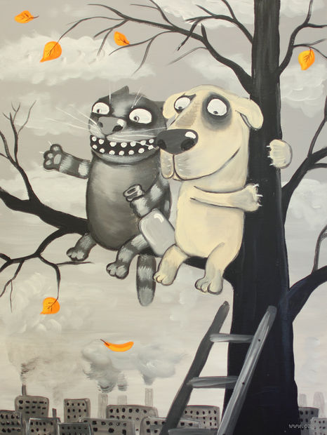 """Магнит сувенирный """"Картины Васи Ложкина"""" (арт. 1748)"""