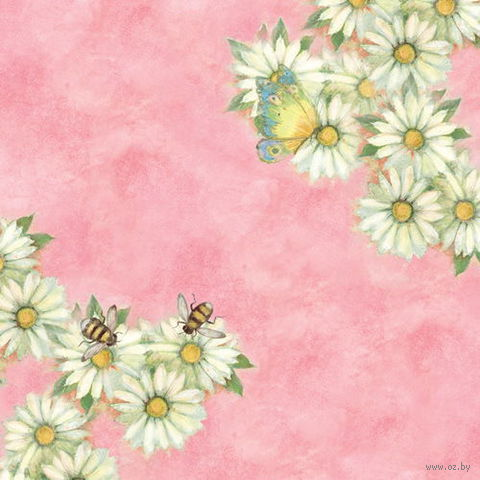"""Бумага для скрапбукинга """"Весна. Ромашки"""" (310х310 мм; 12 листов)"""