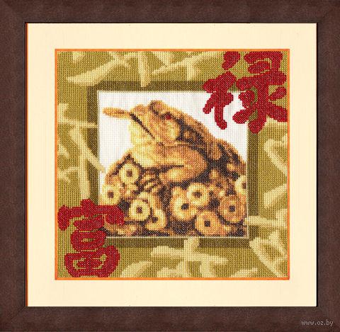 """Вышивка крестом """"Золотая жаба"""""""