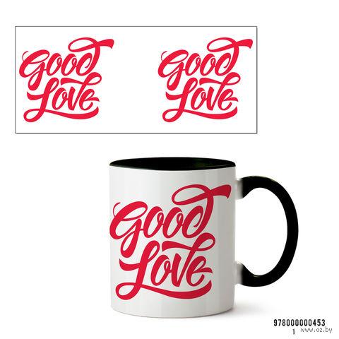 """Кружка """"Good Love"""" (арт. 453, черная)"""
