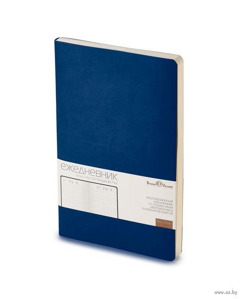 "Ежедневник недатированный ""Megapolis Flex"" (А5; темно-синий navy) — фото, картинка"