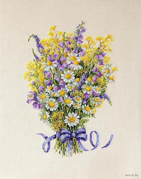 """Вышивка крестом """"Летние цветы"""" (210х290 мм) — фото, картинка"""