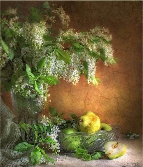 "Вышивка бисером ""Натюрморт с сиренью"" (230х280 мм) — фото, картинка"
