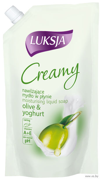 "Жидкое мыло ""Creamy. Оливка и йогурт"" (900 мл)"