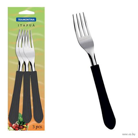 Набор вилок металлических с пластмассовыми ручками (3 шт.; 18,5 см)