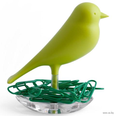 """Держатель для скрепок """"Sparrow"""" (зеленый)"""