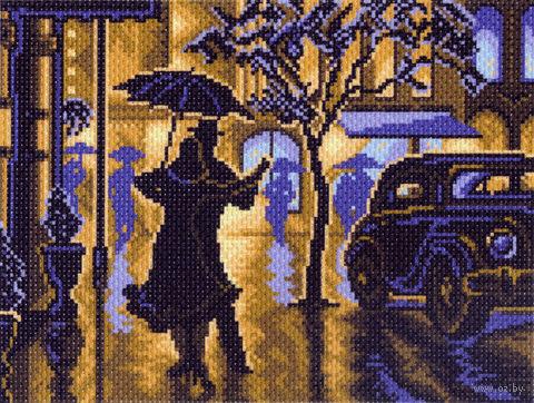 """Канва с нанесенным рисунком """"Танец под дождем"""""""