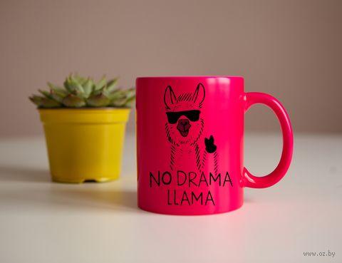 """Кружка """"Лама"""" (розовая) — фото, картинка"""