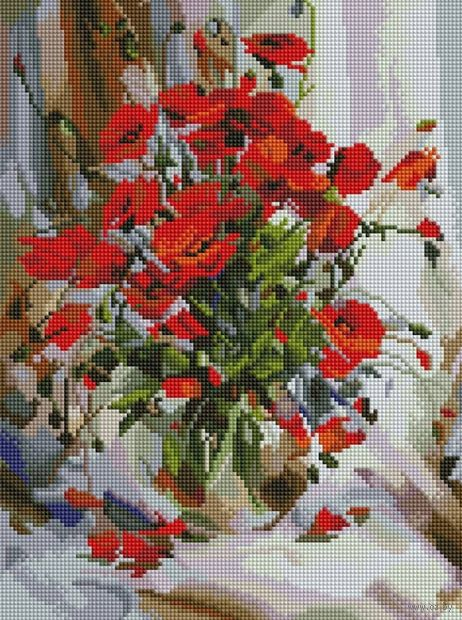 "Алмазная вышивка-мозаика ""Букет маков"" (300х400 мм) — фото, картинка"