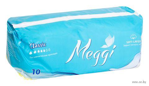 """Гигиенические прокладки """"Meggi Classic"""" (10 шт.) — фото, картинка"""