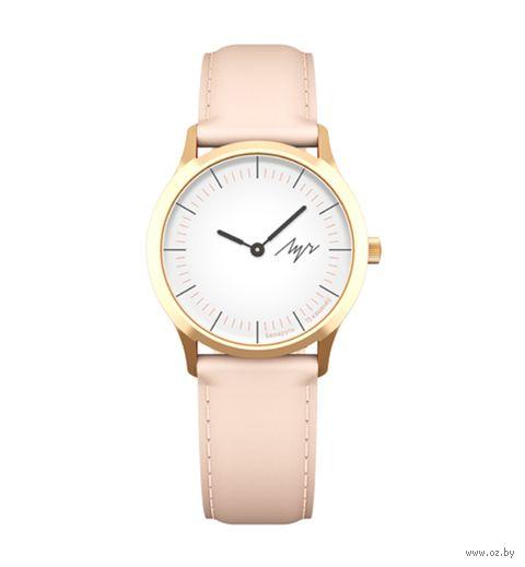 """Часы наручные """"Нюд"""" (розовые; арт. 375238289) — фото, картинка"""