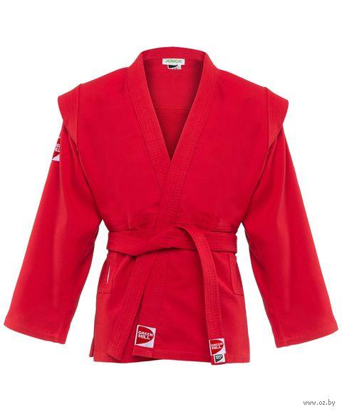 """Куртка для самбо """"Junior SCJ-2201"""" (р. 2/150; красная) — фото, картинка"""