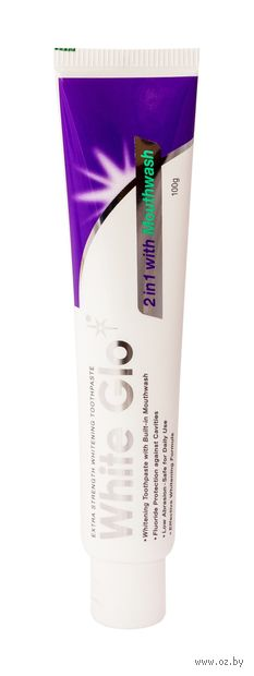 "Зубная паста 2 в 1 ""White Glo. Отбеливающая"" (100 г) — фото, картинка"