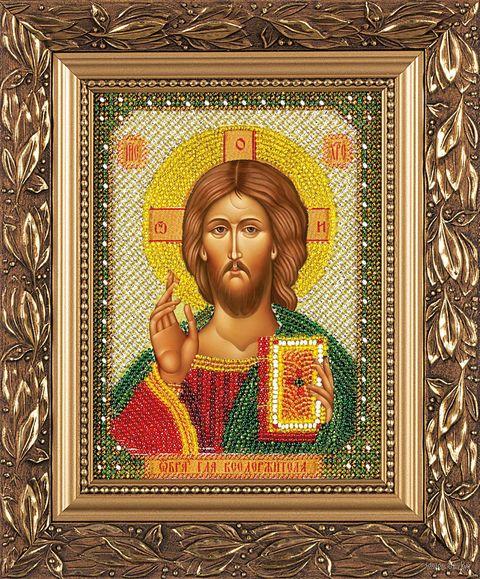 "Вышивка бисером ""Христос Спаситель"" (130х170 мм) — фото, картинка"