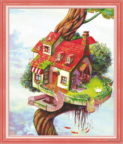 """Алмазная вышивка-мозаика """"Дом-дерево"""""""