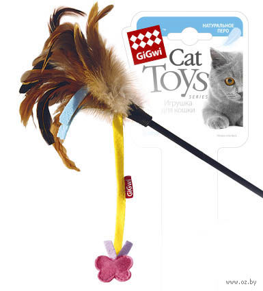 Дразнилка для кошек на стеке (51 см; арт. 75246)