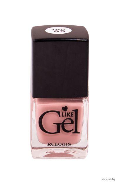 """Лак для ногтей """"Like Gel"""" (тон: 05, винтажный розовый) — фото, картинка"""