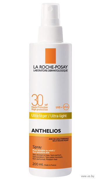 "Спрей для тела солнцезащитный ""ANTHELIOS"" SPF 30 (200 мл) — фото, картинка"