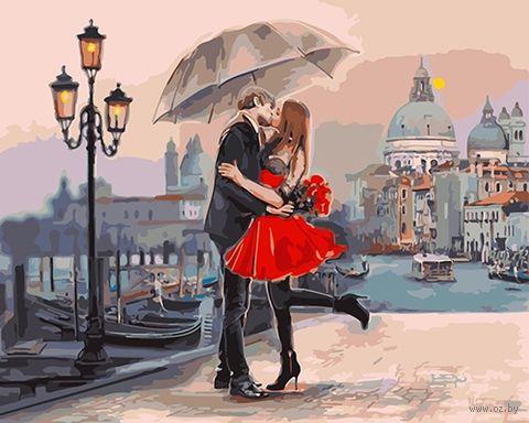 """Картина по номерам """"Влюбленные на мосту"""" (500х650 мм) — фото, картинка"""