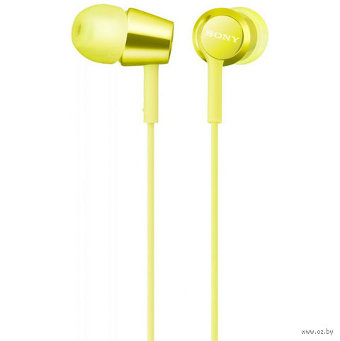 Наушники Sony MDR-EX155Y (лайм, желтые) — фото, картинка