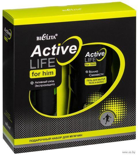 """Подарочный набор """"Active LIFE"""" (гель-шампунь, дезодорант)"""