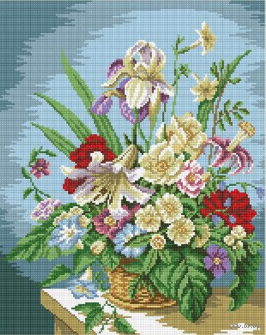 """Алмазная вышивка-мозаика """"Цветочная композиция"""""""